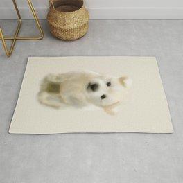 Jindo puppy re Rug