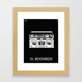 El Boombox Framed Art Print
