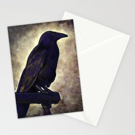 Black Raven of Peace Stationery Cards