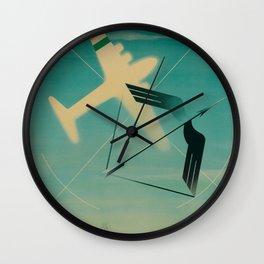Alitalia Vintage Travel Poster Wall Clock