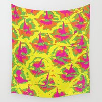preppy Wall Tapestries featuring Preppy Pineapple by Kristin Seymour