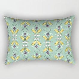 Art Deco Floral Pattern Rectangular Pillow