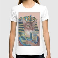 egyptian T-shirts featuring Egyptian Cat by Rachel Waterman