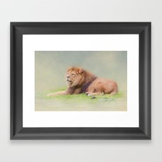 I'm the king Framed Art Print