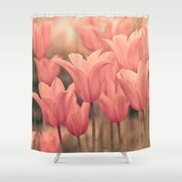 tulips Shower Curtains featuring Tulips by Maria Heyens