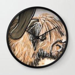 Highland Cow by Noelle's Art Loft Wall Clock