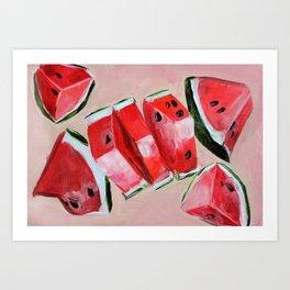 Fruit, watermelon, summer Art Print