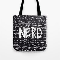 nerd Tote Bags featuring Nerd by ALLY COXON