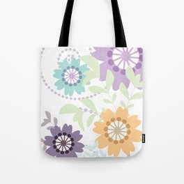 Flowers and Swirls Tote Bag