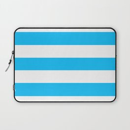 Spiro Disco Ball - solid color - white stripes pattern Laptop Sleeve