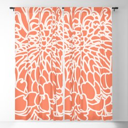 Coral Chrysanth 2 Blackout Curtain
