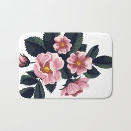 Bouquet of rose - Vintage Bath Mat