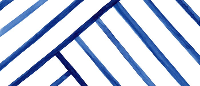 Watercolor lines pattern   Navy blue Coffee Mug