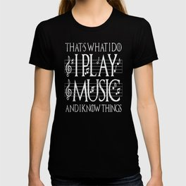 Music Lover Musical Notes Gift Motif T-shirt