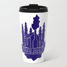 Walden - Henry David Thoreau (Blue version) Travel Mug