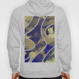 Textured Segments - Abstract, textured painting Hoody