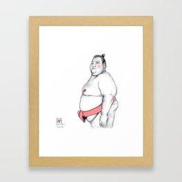 Sumo Wrestler Framed Art Print