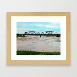 Low Tide at the Sackville Train Bridge Framed Art Print