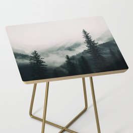 Over the Mountains and trough the Woods -  Forest Nature Photography Side Table