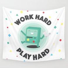Work Hard, Play BMO Wall Tapestry