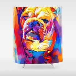 Bulldog 4 Shower Curtain