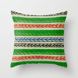 Multicolor Corn Stripes Japanese Shima-Shima Pattern Throw Pillow