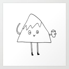 Monty loves himself some shaved ice. Art Print