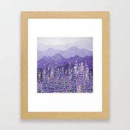 Purple Mountain Rain Framed Art Print