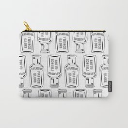 Vintage Bottle Collection Illustrated Repeat Pattern Print Carry-All Pouch