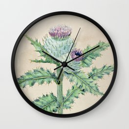 Downy thistle Wall Clock