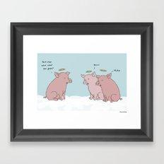 Hog Heaven  Framed Art Print