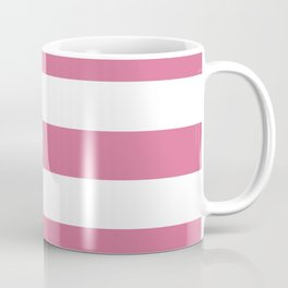 Pale red-violet -  solid color - white stripes pattern Coffee Mug