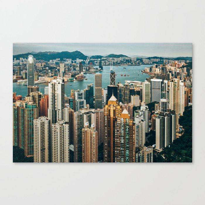 Golden Harbour Canvas Print by jillianvanzytveld