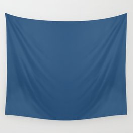 Classic Blue Jay Simple Solid Color Wall Tapestry