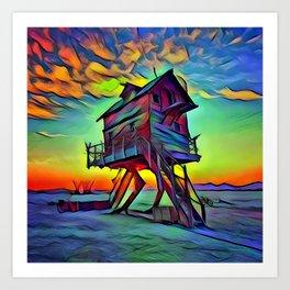Abandoned Sunset Art Print