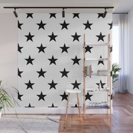 Stars (Black/White) Wall Mural