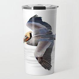 Brown pelican scientific illustration art print Travel Mug