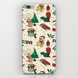 Christmas deer,bear,cat and Nutcracker SB14 iPhone Skin