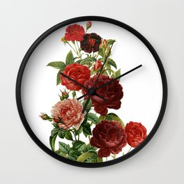 Vintage & Shabby Chic - Red Roses Wall Clock
