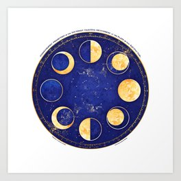 Celestial Atlas :: Lunar Phases Art Print