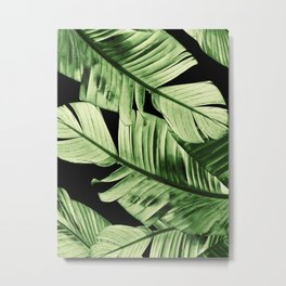 Tropical Banana Night Leaves Dream #1 #tropical #decor #art #society6 Metal Print
