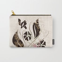 Spring Breeze Floral Print Carry-All Pouch