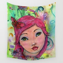 Oceana Whimsical Face Wall Tapestry