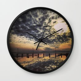 Sunset Pier Wall Clock