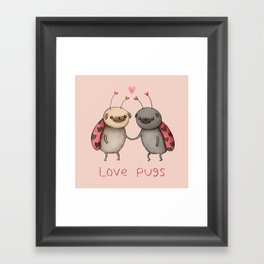 Love Pugs Framed Art Print