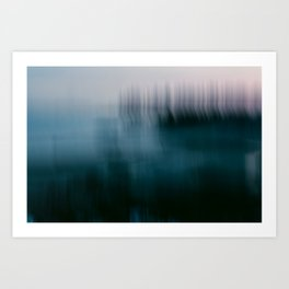 Forest Wilderness by the Sea Abstract Art Print