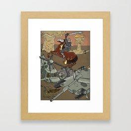 Conflict on Earth Framed Art Print
