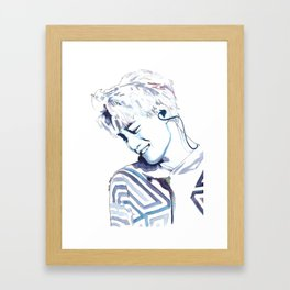 Kai Kim Jongin Watercolour Design Framed Art Print