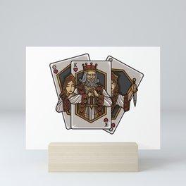 Poker Cards Getting Alive | Card Dealer Gambler Mini Art Print