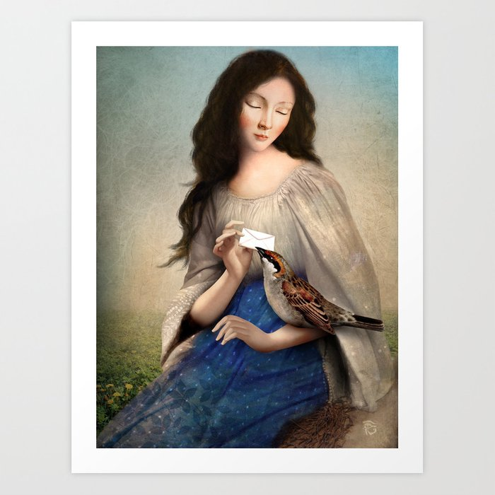 Discover the motif THE MESSENGER by Christian Schloe as a print at TOPPOSTER
